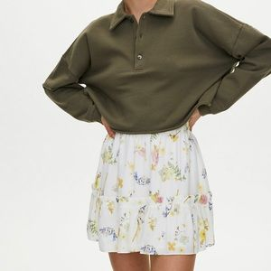 Aritzia Sunday Best Trixie skirt floral